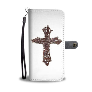 Thorn Cross Wallet Phone Case