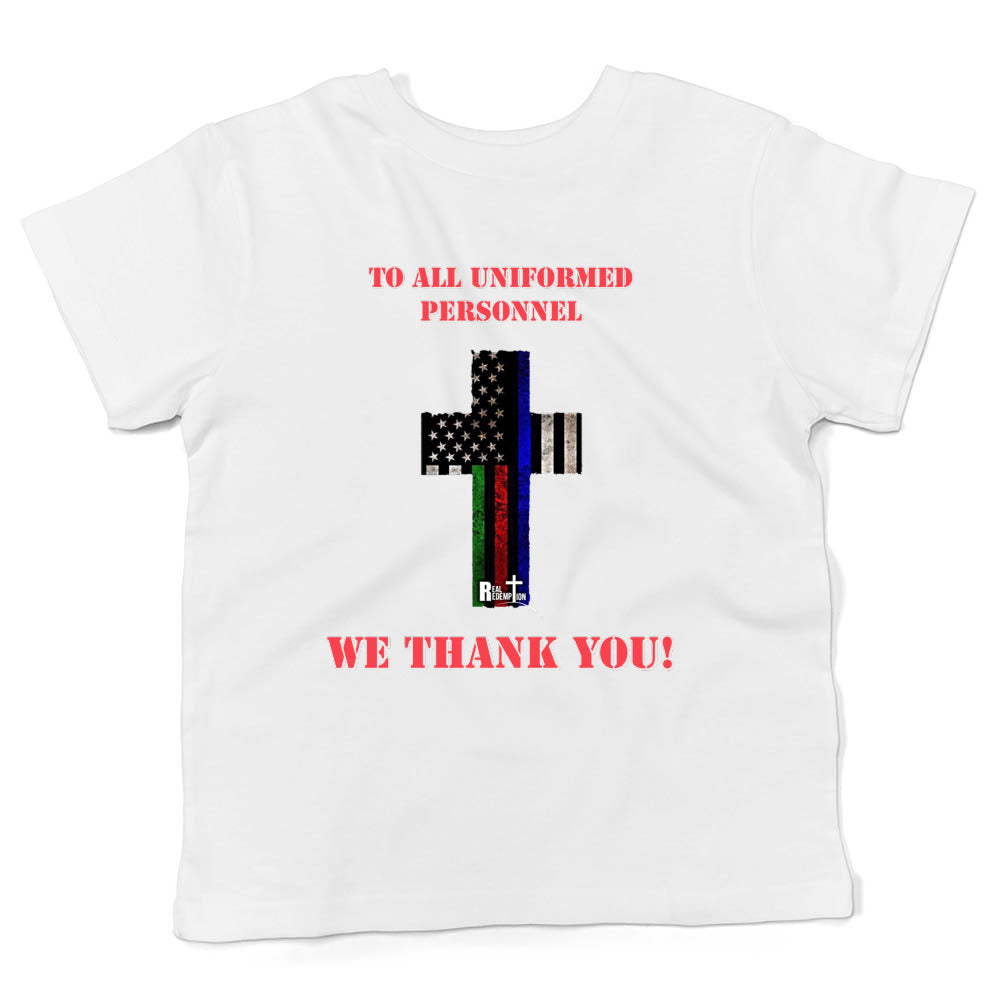 Hero Flag Cross Kids T-shirt (White and Red)