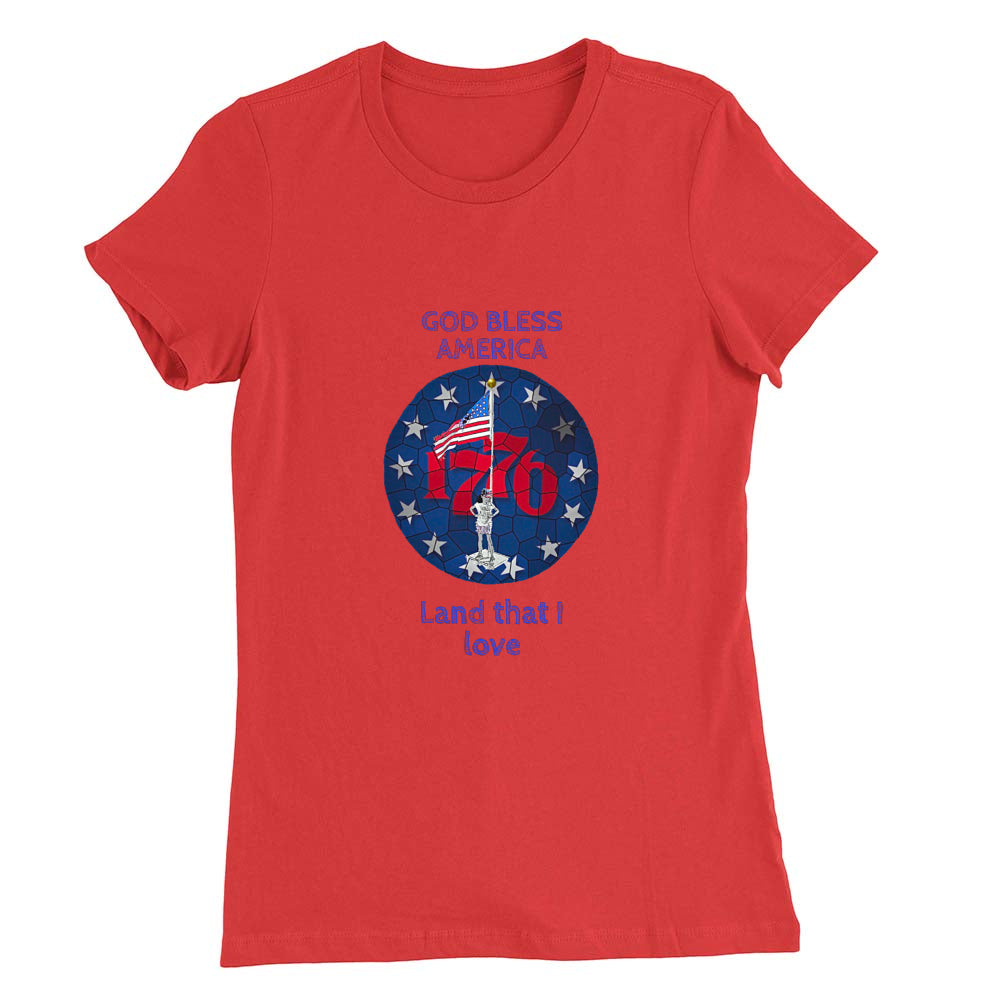 I'm an American Girl Women's T-shirt (blue print; see all colors)
