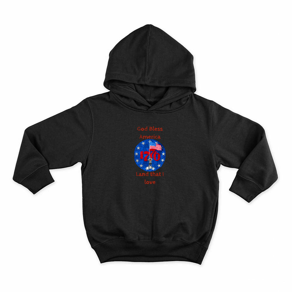 I'm an American Boy Kids Hoodie (red print; see all colors)