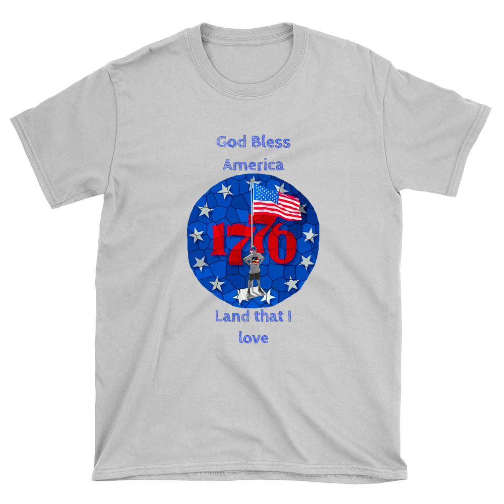 I'm an American Boy Mens T-shirt (blue print; see all colors)