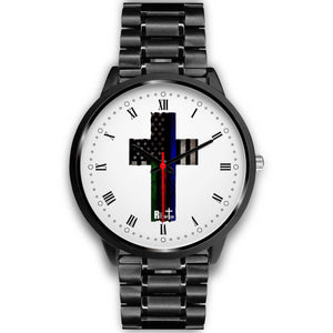 Hero Flag Cross Watch ( Roman Numerals Style)