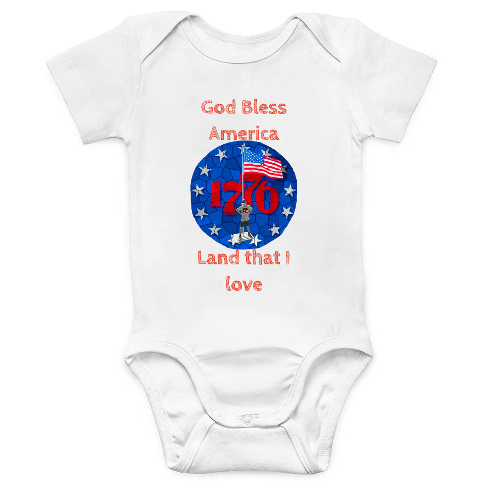 American Boy Baby Onesie (Red Crayon)