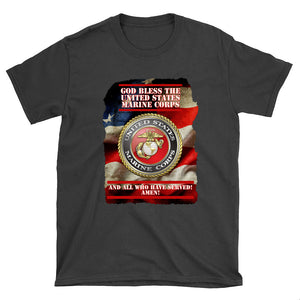 God Bless USMC T-shirt (see all colors)