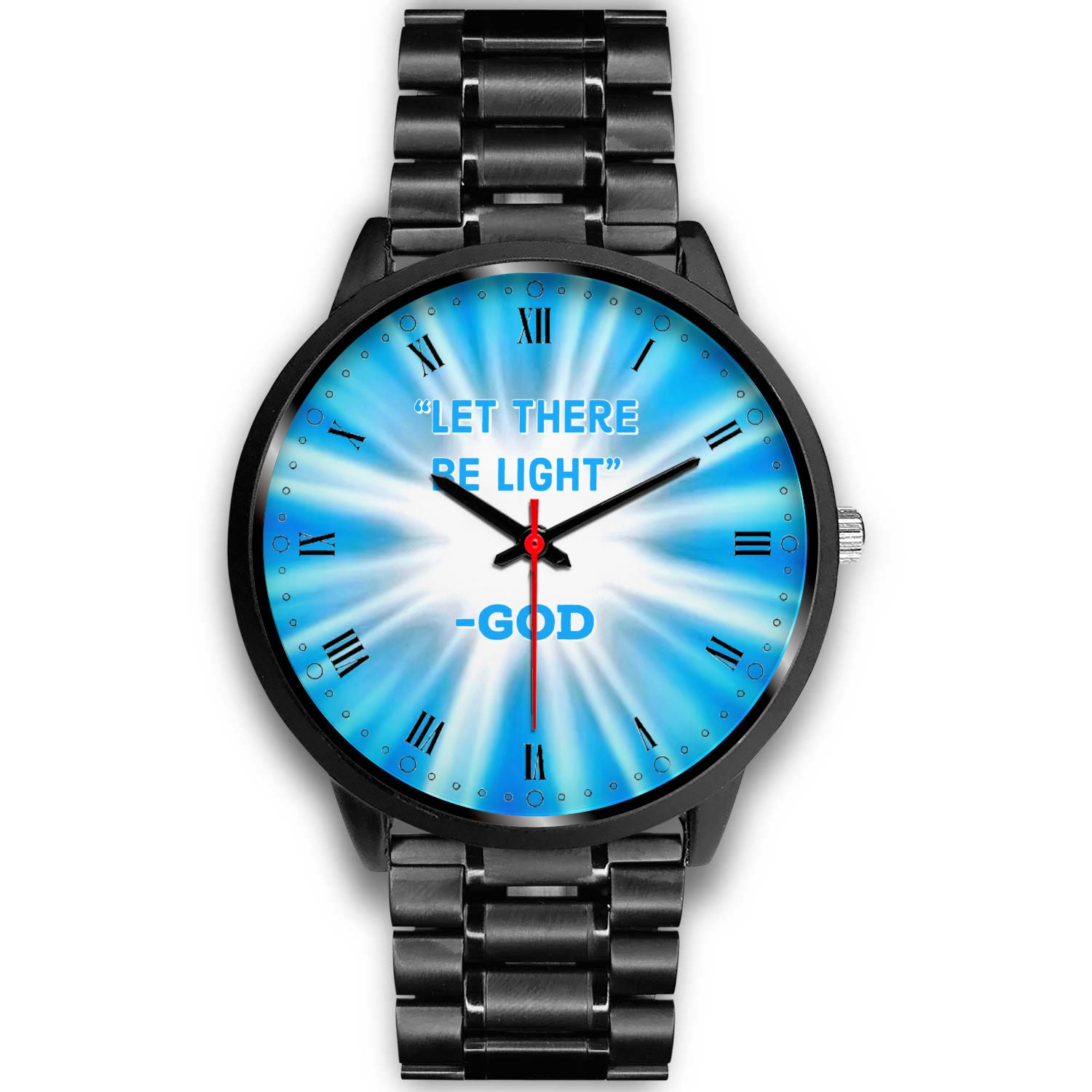 """Let There Be Light"" Roman Numerals Watch (see all band options)"