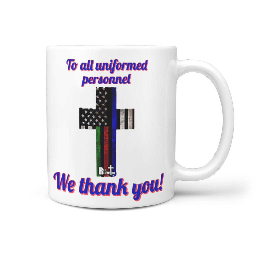 """We Thank You"" Hero Mug"