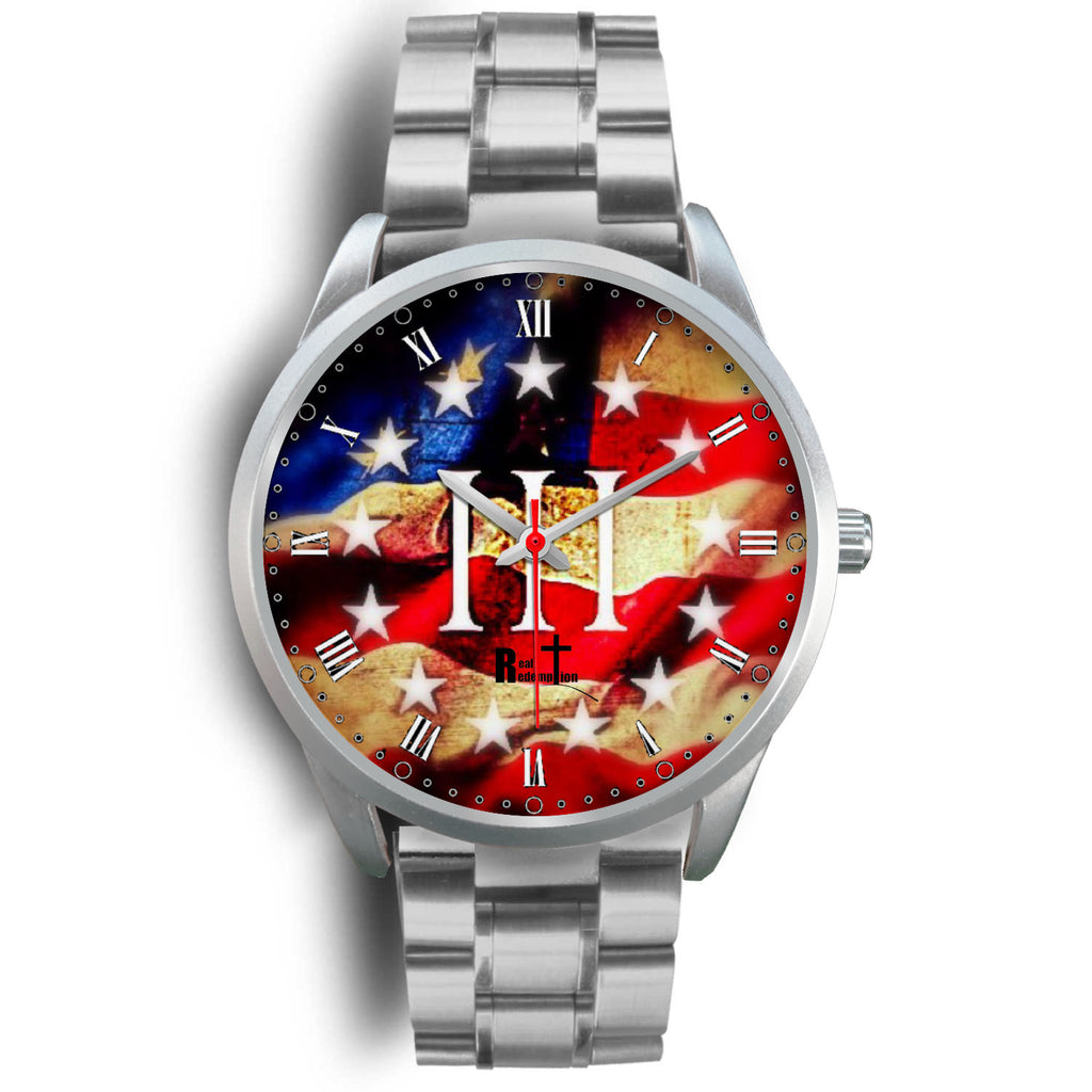 III% Patriot Watch (Silver: See all band styles)