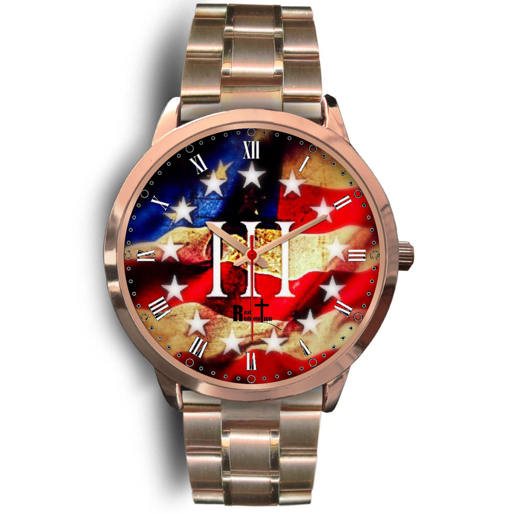 III% Patriot Watch (Rose Gold: See all band styles)