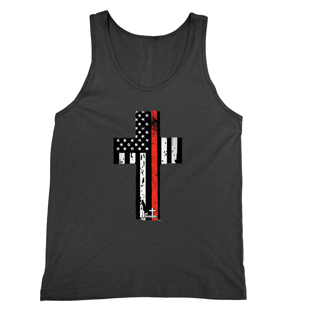 Fire/EMS Flag Cross Tank Top