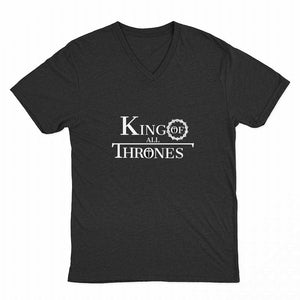 King of All Thrones mens v-neck.  (See all colors)