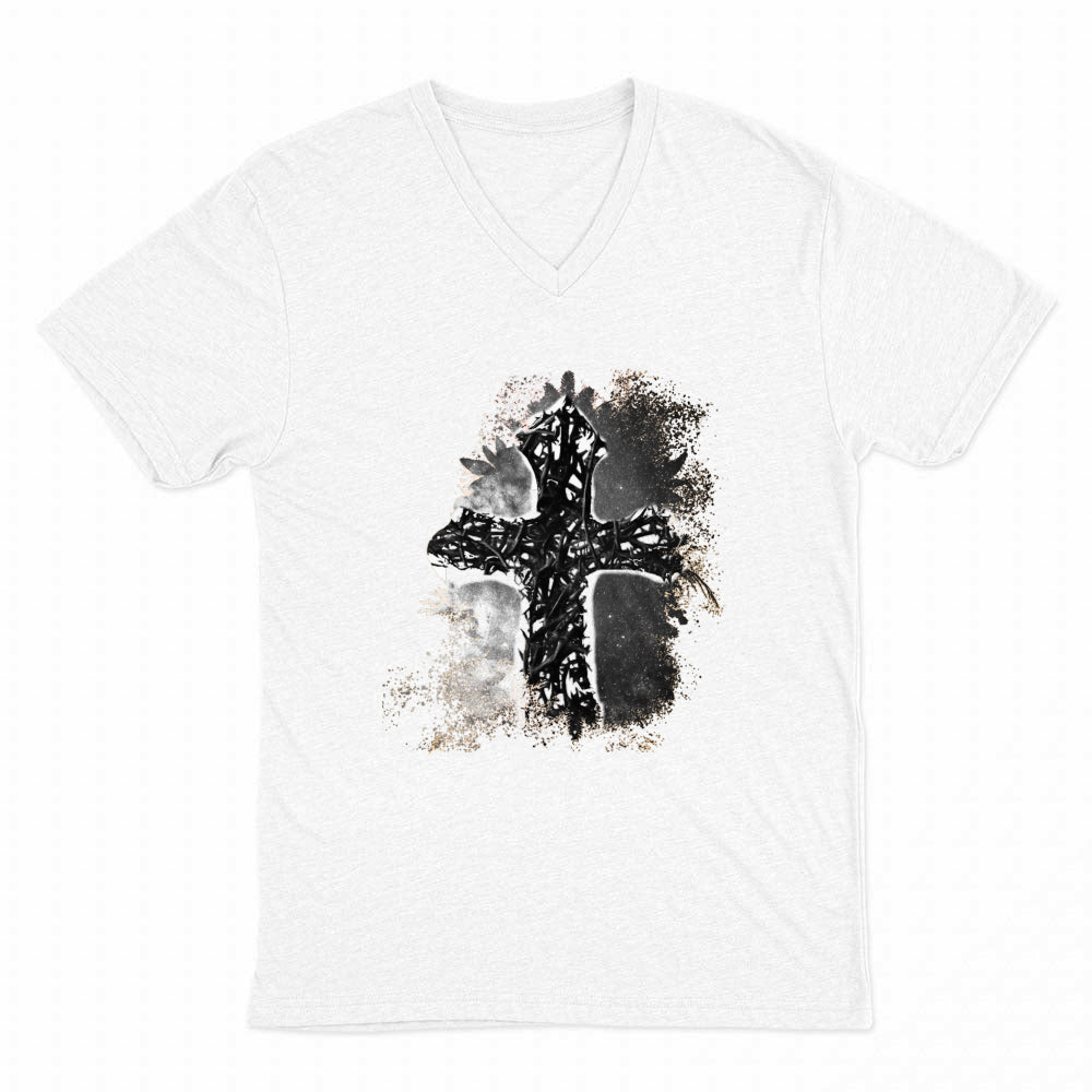 Thorn Cross Abstract Men's V-neck (See Colors)