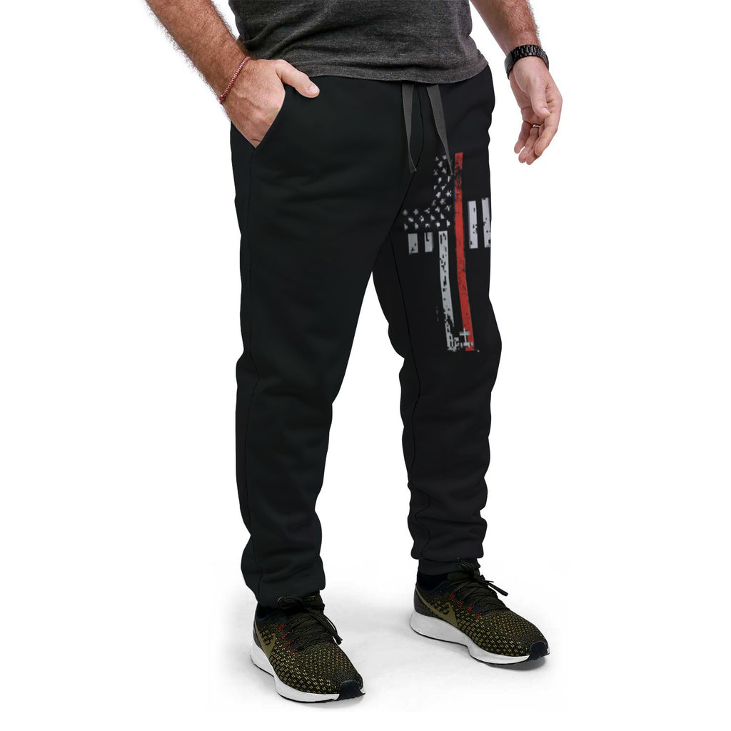Fire/EMS Flag Cross AOP Joggers