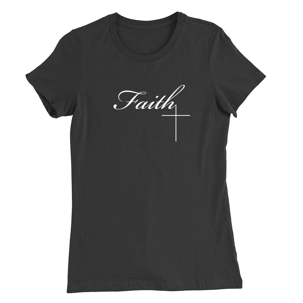 Faith Cross 2 Women's T-shirt (White)