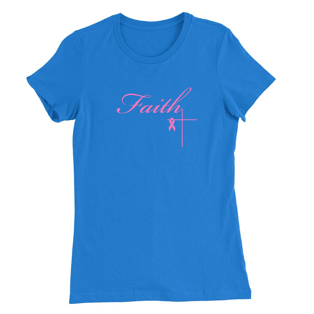 Faith Cross Breast Cancer Awareness Women's T