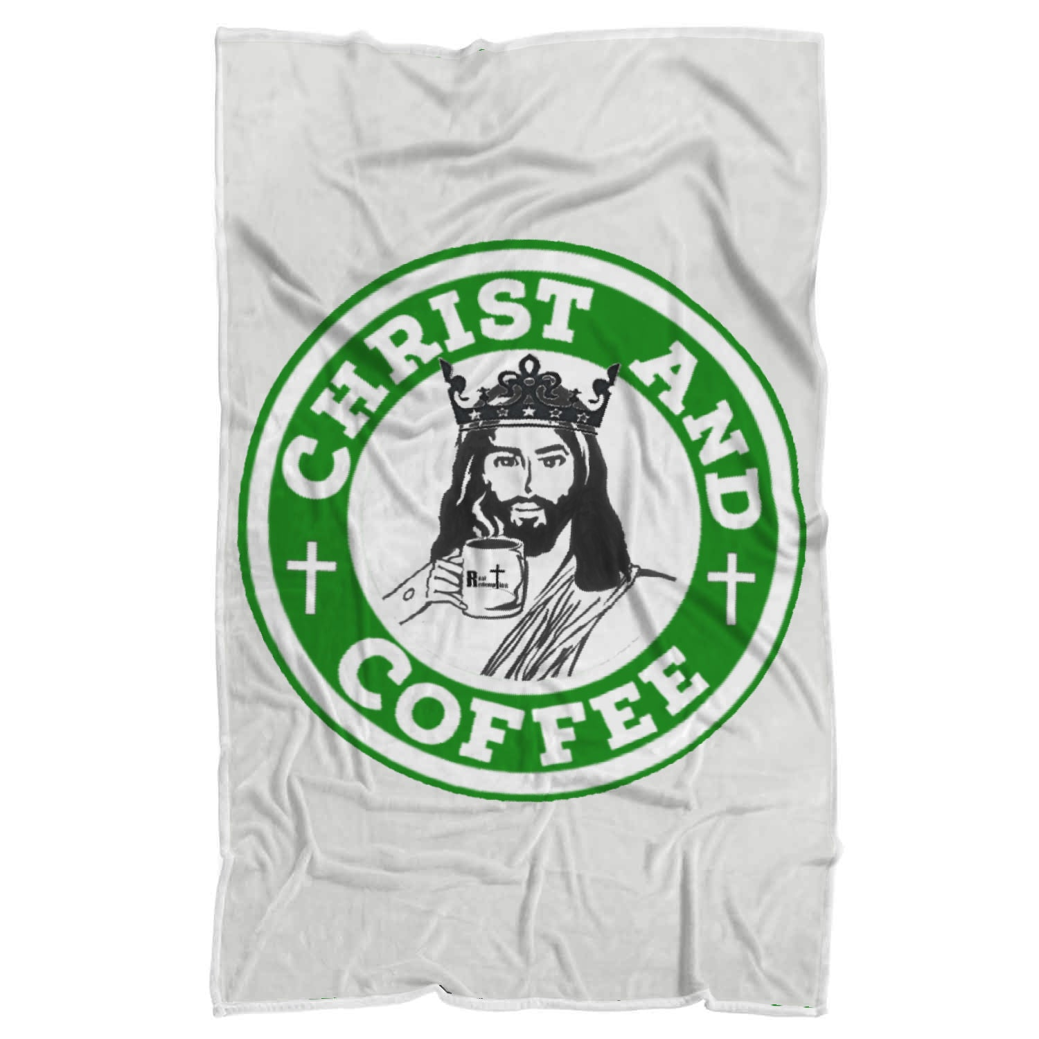 Christ and Coffee Sherpa Blanket