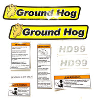 DS-HD - Decal Set for the Ground Hog Inc HD99 Auger