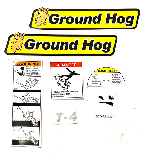 DS-T4 - Decal Set for the Ground Hog Inc T-4 Trencher
