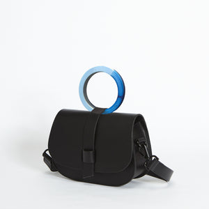 Micro Arlington Hoopla! Handbag Black & Blue