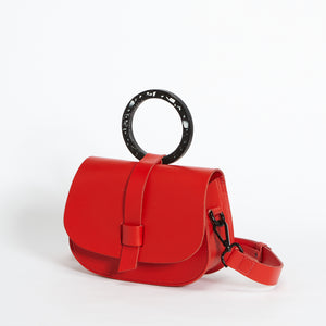 Micro Arlington Hoopla! Handbag Red & Black Terrazzo