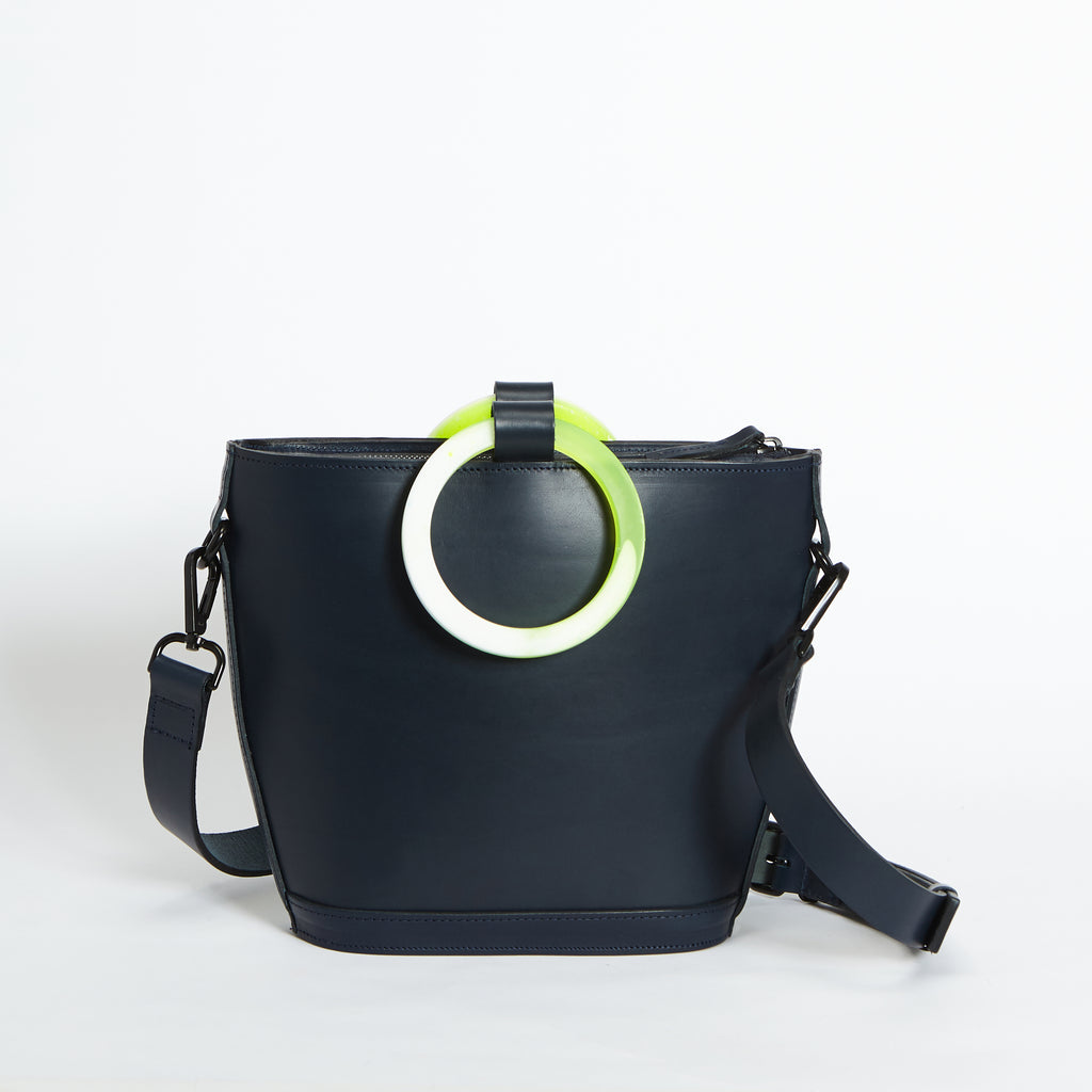 Mini Elwin Hoopla! Handbag Navy & Neon