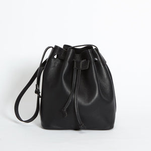 Rivington Drawstring Handbag Black