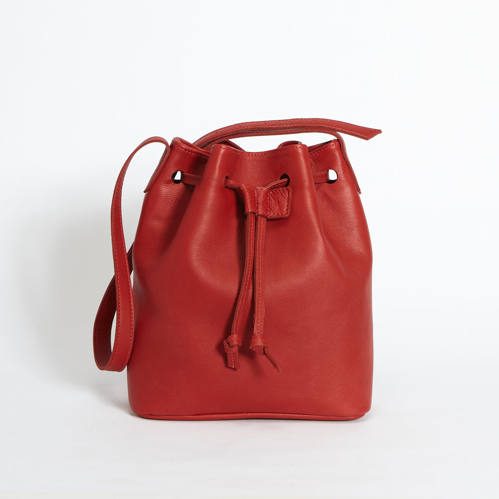 Rivington Drawstring Handbag Red