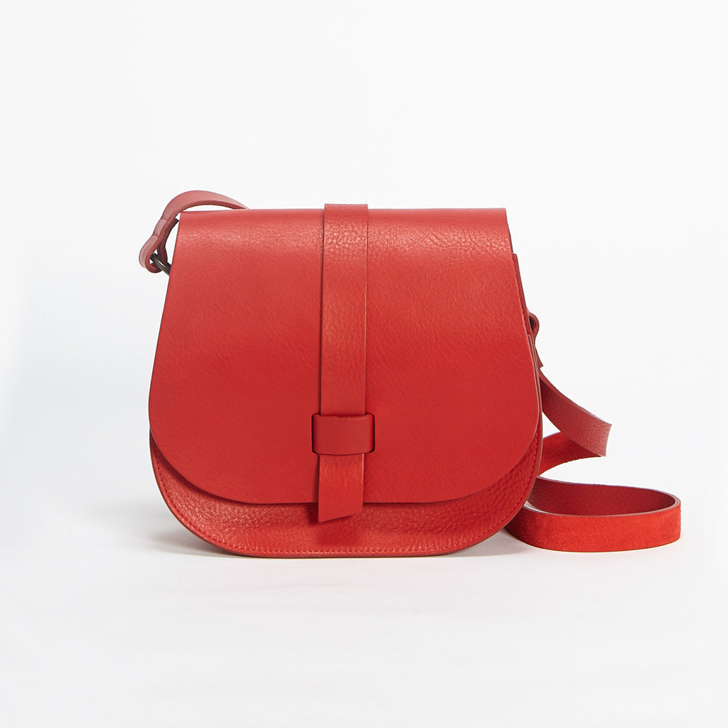 Arlington Soft Pebble Grain Handbag Red