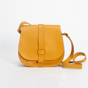 Arlington Soft Pebble Grain Handbag Mustard