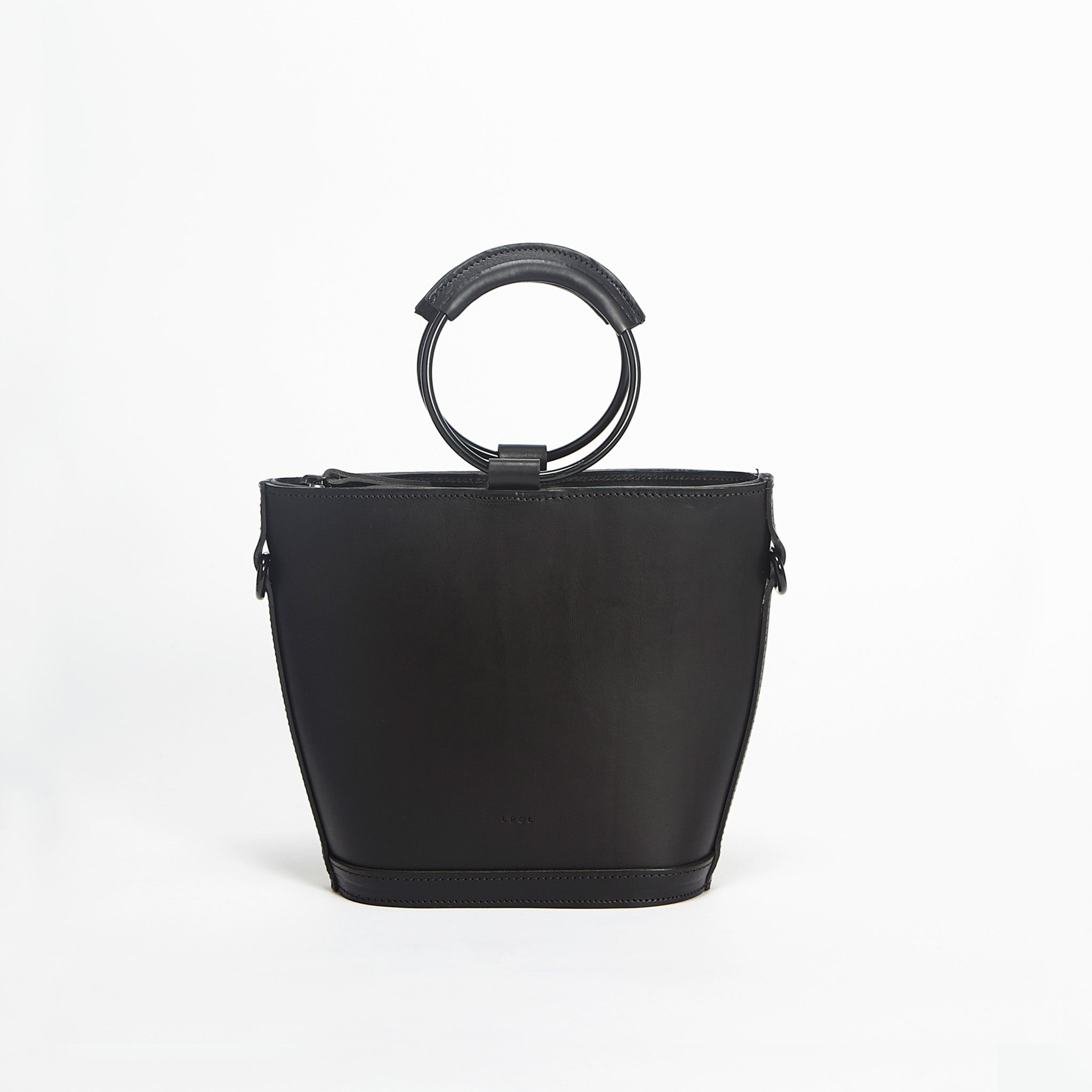 Mini Elwin Hoop Handbag Black