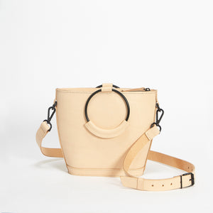 Mini Elwin Hoop Handbag Natural