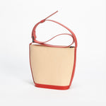 Mini Elwin Handbag Natural & Red