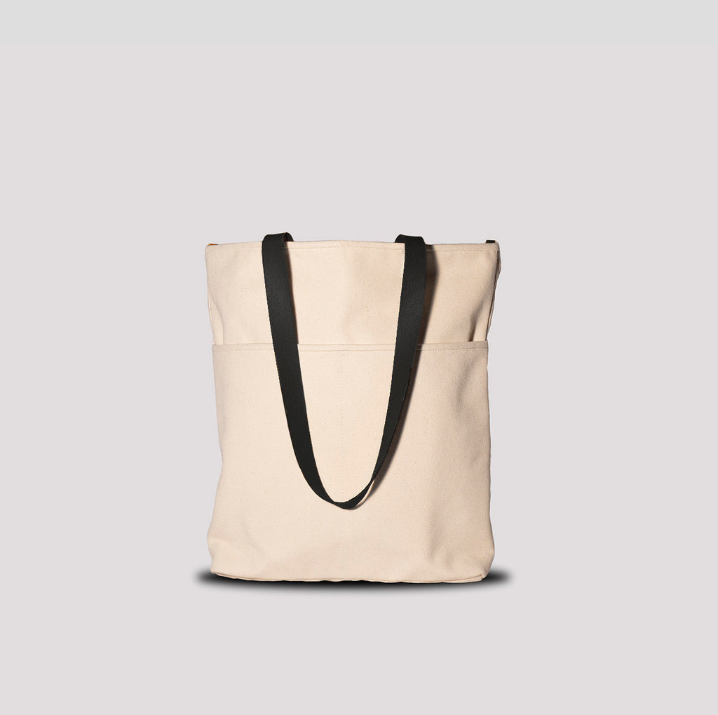 Utility Tote Cream & Black