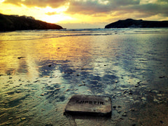 Gutta Percha Block Washed Up On Cornish Beach