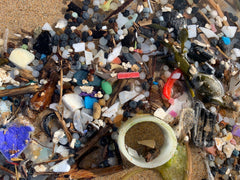 Microplastic on a Cornish Beach Following Storm Ciara