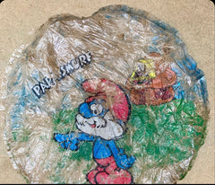 Smurf Balloon from 1982 Found on Cornish Beach Clean