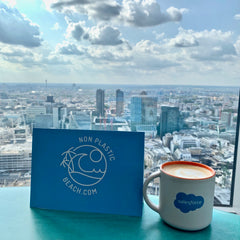 Non Plastic Beach at Salesforce Tower London to Introduce 50 minutes to Change the World Documentary