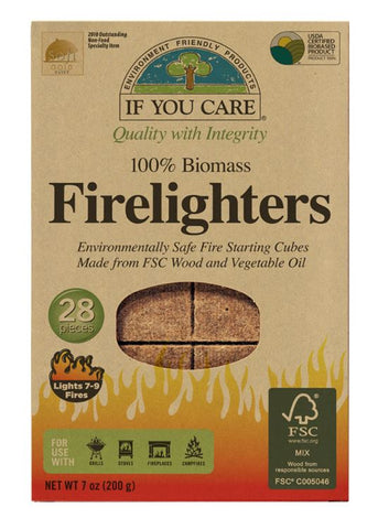 If You Care 100% Biomass Firelighters - 28 pieces