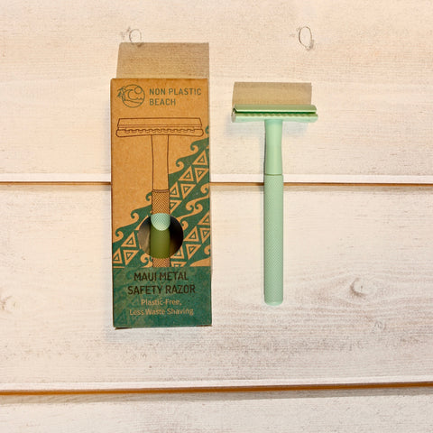 Maui Metal Green Safety Razor