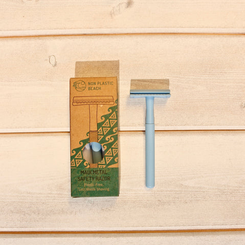 Maui Metal Blue Safety Razor