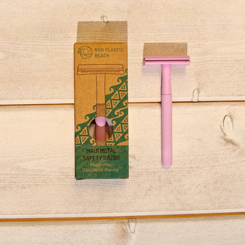 Maui Metal Pink Safety Razor