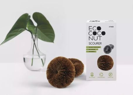 EcoCoconut Kitchen Scourer - Twin Pack
