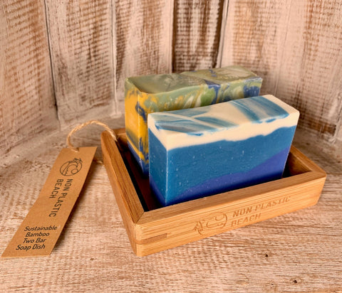 Rectangular Bamboo Soap Dishes