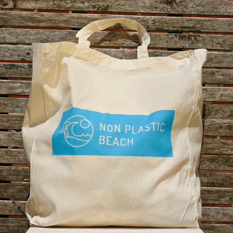 Non Plastic Beach Organic Cotton Shopping Bag