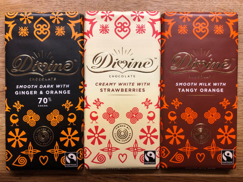 Divine Chocolate Bars - 90g