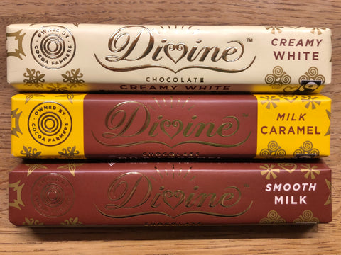 Divine Chunky Chocolate Bars - 35g