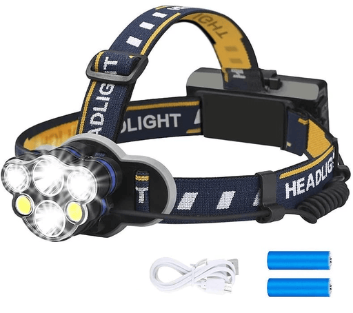 Hands-Free Headlight: Rechargeable Multi-Mode 12000 Lumen Headlamp
