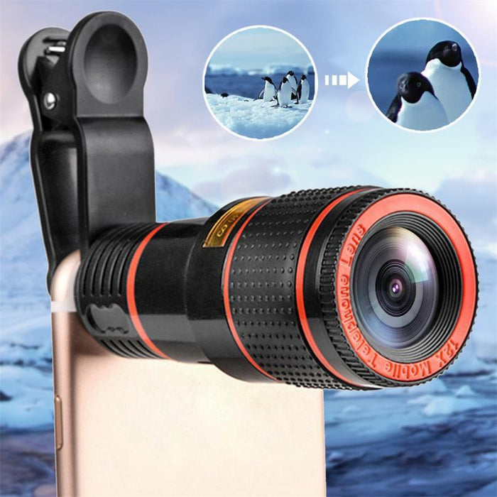 Phone Zoom Clip-On Lens