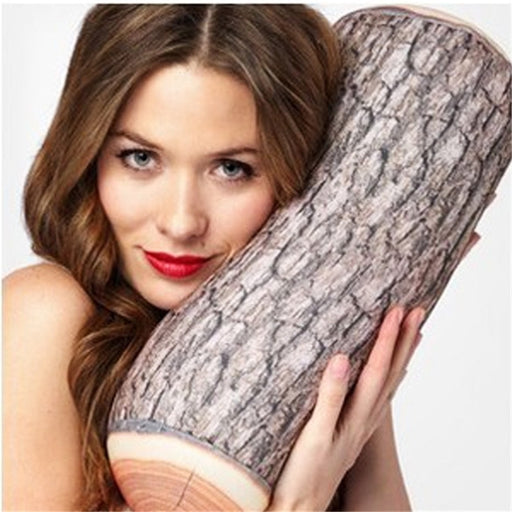 Fun & Super Realistic Wood Log Throw Pillow