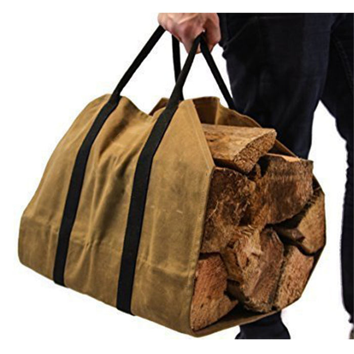 Waxed Canvas Rugged Firewood Carrier