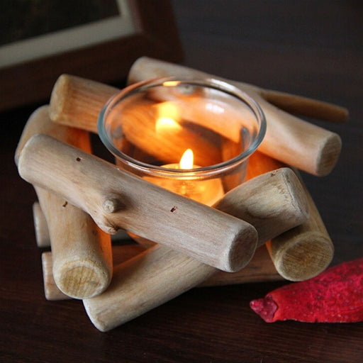 Natural Country Style Tea Light Candle Holder
